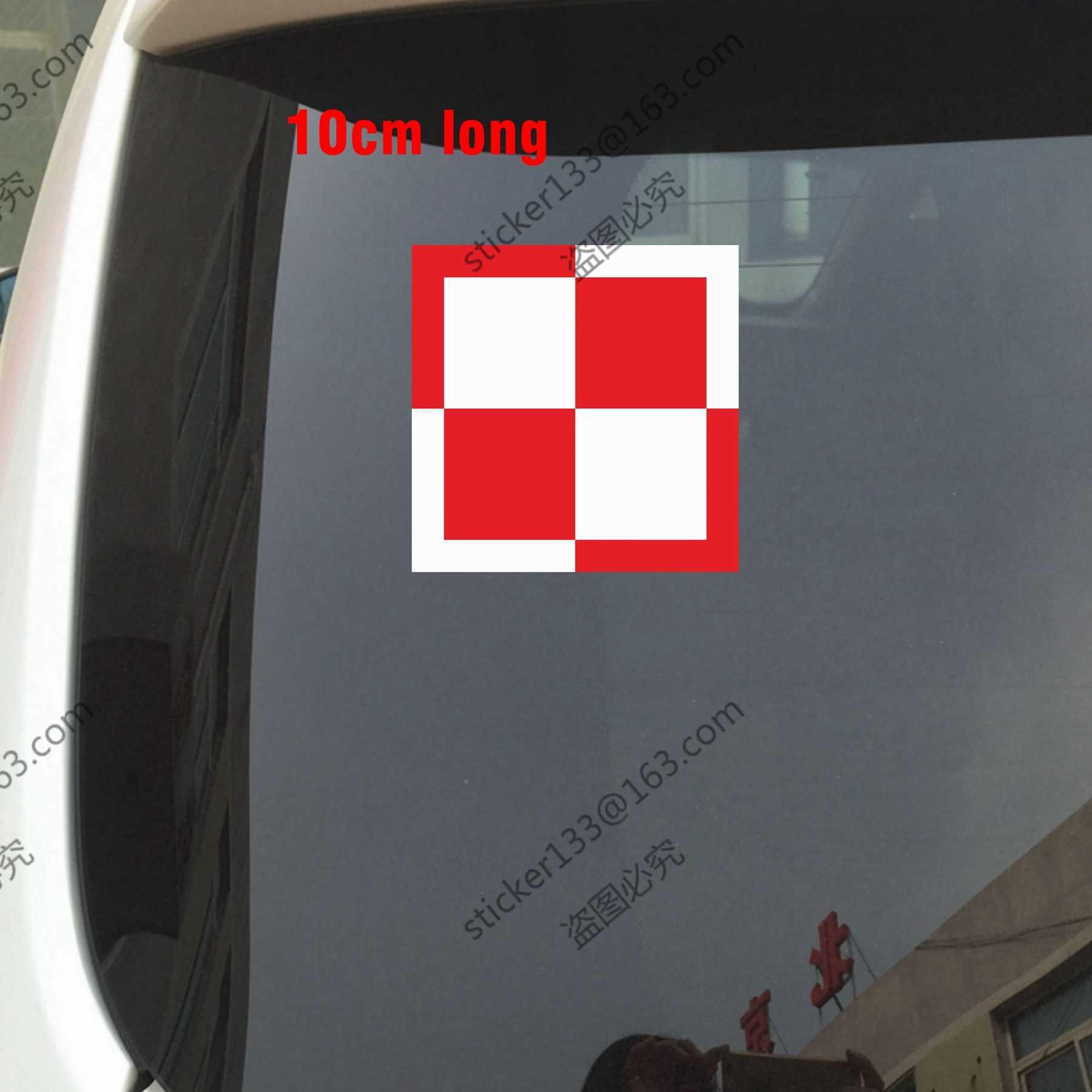10cm long polish air force decal sticker roundel poland car trunk window vinyl