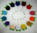 Newest Felt flowers rose flower men  lapel pin  brooch pins 20pcs/lot  14color for your choice Free shipping