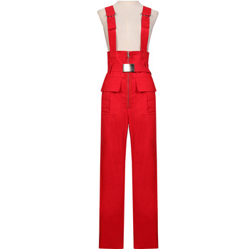 Sexy Jumpsuit Women New Arrival Women Jumpsuits High Quality Braces Tooling jumpsuit Basic Overall For 4 Season Strap wide leg p