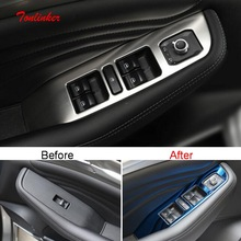 Tonlinker Interior Windows Control Cover stickers for Haval F7/F7X 2018-19 Car Styling 4 Pcs stainless steel Cover stickers