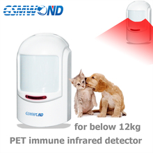 433MHz Wireless Pet Immune Pir Detector For Below 12kg Animal , Motion Sensor Alarm For Our Home Burglar Wifi / GSM Alarm System