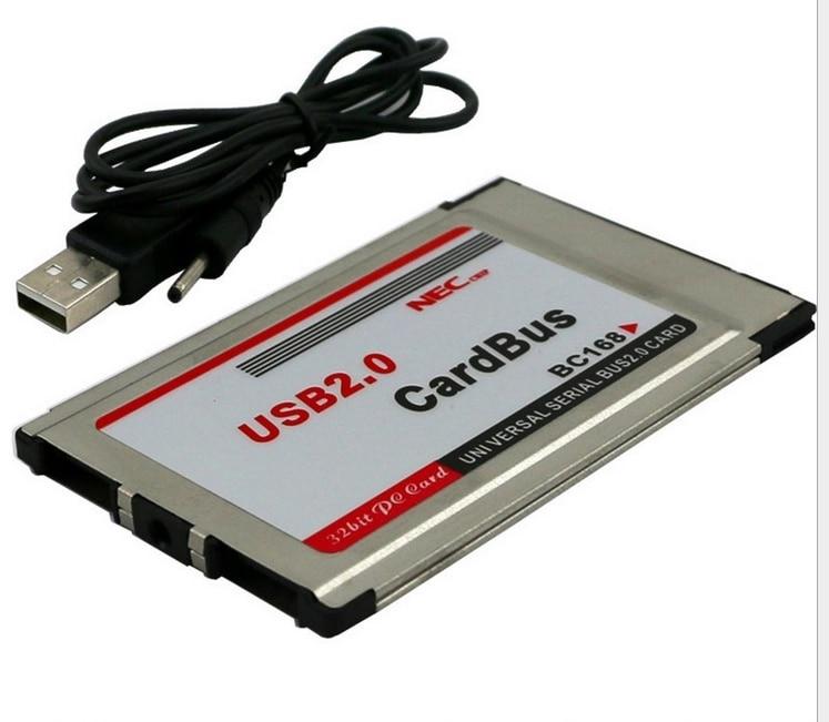 Pcmcia usb 2 ports usb 2.0 cardbus livraison gratuite