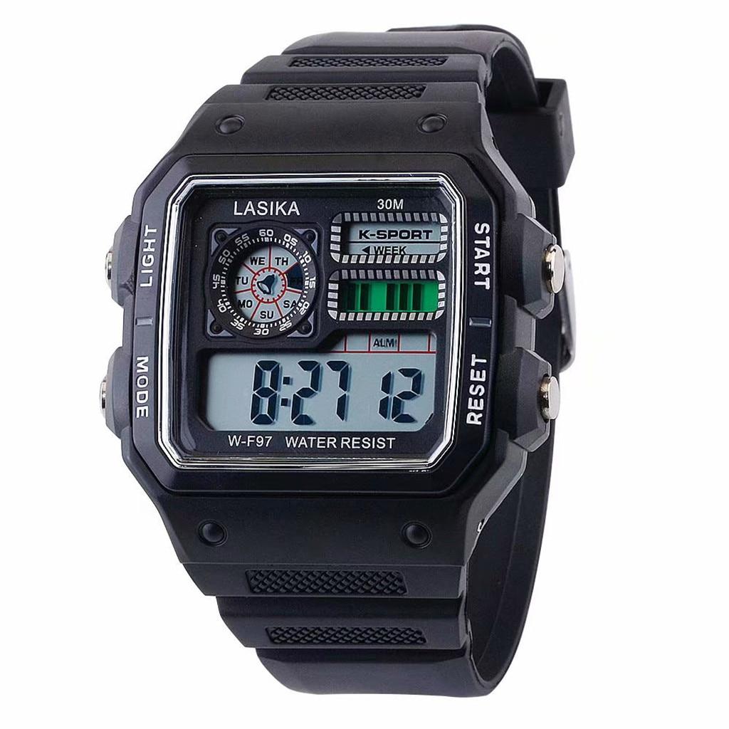 LASIKA Fashion Sports Kids Digital Watch Multifunctional Leisure Watch Square Wild Electronic Durable Students Wrist Watches
