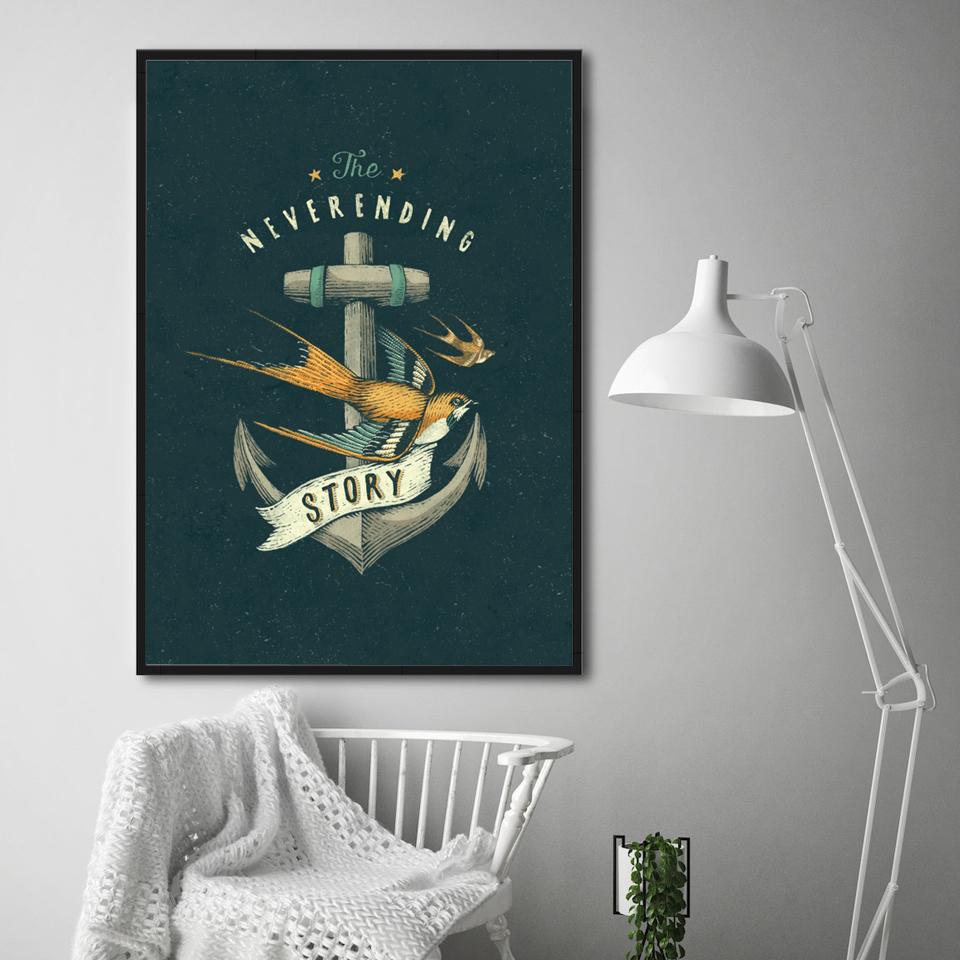 Cartoon Anchor Prints Wall Art  1