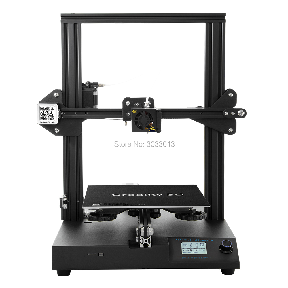 2018 Newest CR-20 3D Printer Resume Print MK-10 Extruder 220*220*250mm V2.1 Upgrade with 200g filament as a gift Creality 3D taste a 200g