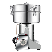 Stainless Steel Home Electric Grinder Commercial Whole Grains Kitchen Grinding Machine Superfine Powdering Machine