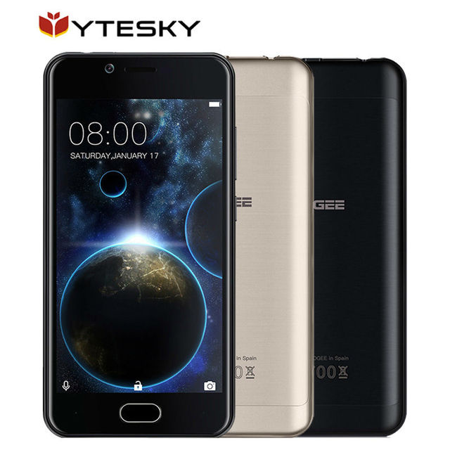 """DOOGEE SHOOT 2 Smartphone MTK6580A Quad-core 1.3GHz Android 7.0 1GB+8GB 3360mAh Fingerprint 5.0"""" Inch 3G WADMA Mobile Phone"""