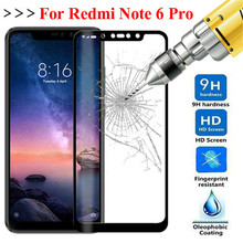 For Xiaomi Redmi Note 6 Pro Glass For Xiaomi Redmi Note 6 Tempered Glass Protective Glass Screen Protector Redmi 6 Pro 6 a Film screen protector for xiaomi redmi 6 pro protection film hd tempered glass