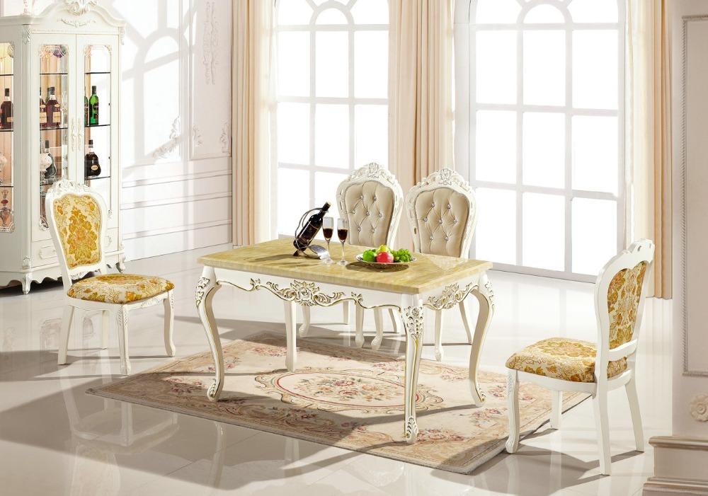 цены  Cam Sehpalar Mesas 2016 Direct Selling New No Iron Furniture Design Wooden Eettafel Antique Loft French Style Dinning Table