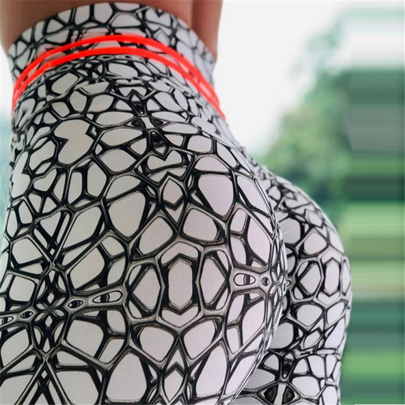 2019 sexy push up legings Wholelsales New Fashion Women Leggings Spot Digital Print Color fashion Ray Fluorescence Pant Legging