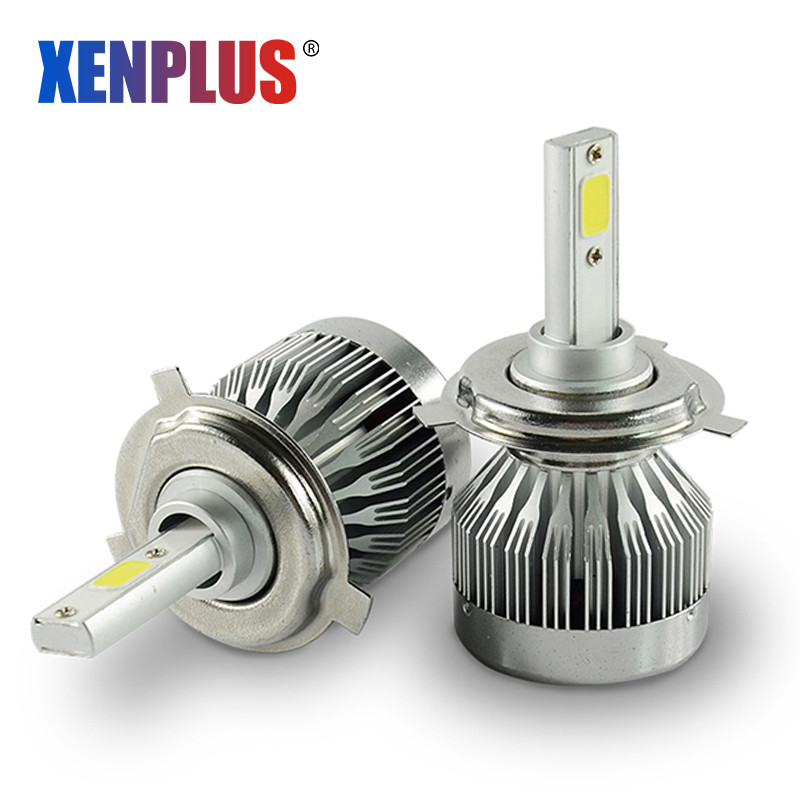 Free Ship H7 Led Car Lamp H16 H1 H3 H4 9004 9005 9006 9007 5202 Cob Chip 3000lm 6000k 12v Led Automotive Headlight Fanless Car Headlight Bulbs(led)