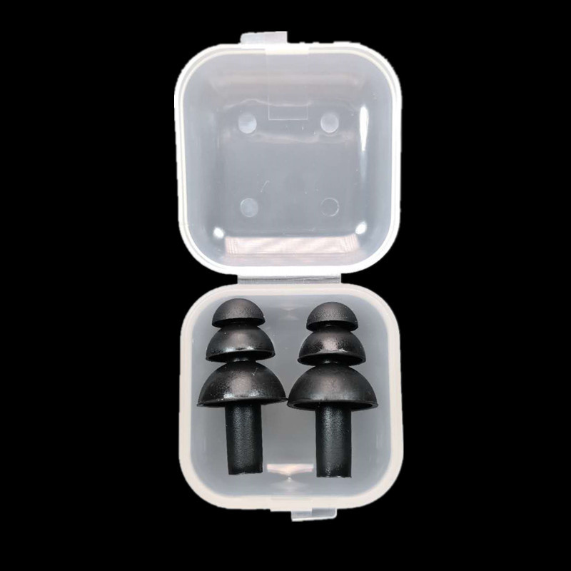 Diving Swimming waterproof earplugs Christmas tree Silicone rubber water sports Earplugs for Adult Boxed wholesale 100 pairs