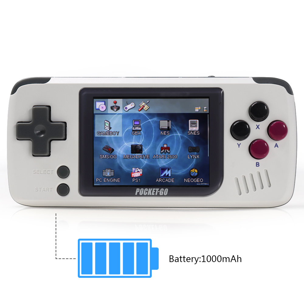 Video game console PocketGo Retro game console Handle game players Pocket sized Open source console