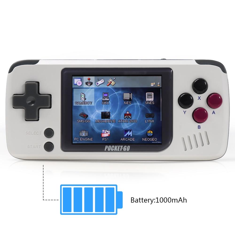 Video game console, PocketGo V1.3 CFW, Retro Handle players.