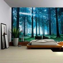 Лесной гобелен настенный пляжный коврик полиэфирное одеяло для пикника скатерть