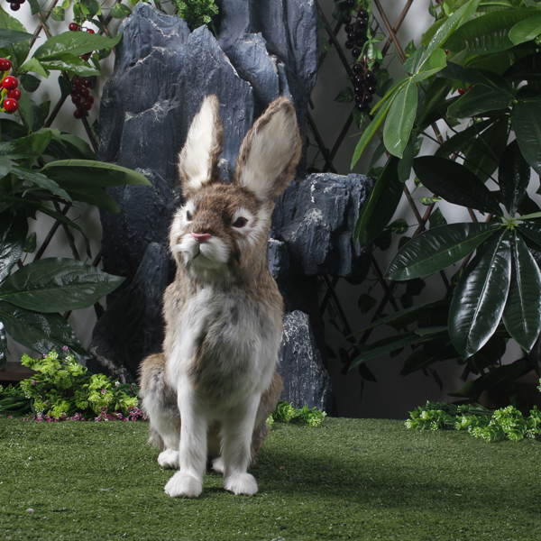 Rabbit Toy Lifesize font b Animals b font Rabbit Item Easter Decorative Bunny Item
