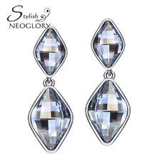 Neoglory Stylish MADE WITH SWAROVSKI ELEMENTS Crystal & Rhinestone Drop Earring Trendy Geometric Elegant Jewelry For Lady BN
