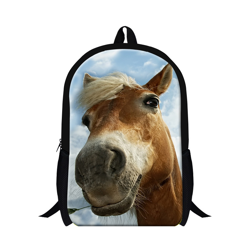 Fashion Donkey 3D Printing School Bags For Girls,Horse Bookbags For Teenagers,mochila,Children Shoulder Back Pack,day Pack