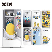 Grand prime G530 case for fundas Samsung Galaxy Grand Prime Minions hard PC G531 cover for coque Samsung Galaxy Grand Prime case