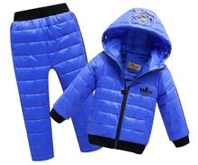 New Hoodies Down Jacket Trousers Waterproof Snow Warm kids Clothes Children Boys girls Clothing 2 8year