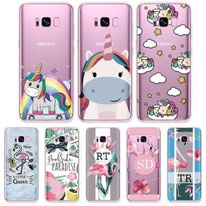 Cartoon Flamingo Unicorn Case For Samsung Galaxy A70 A50 A40 A30 A20e A10 S10e S3 S4 S5 Mini S6 S7 Edge S8 S9 S10 Plus TPU Coque