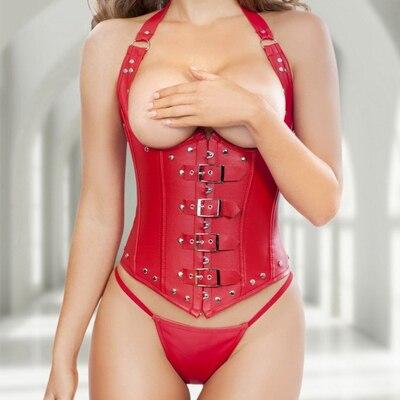 Новое поступление Европейский Стиль искусственная кожа корсет пикантные Для женщин талии Cincher похудения корректирующее боди больших размеров