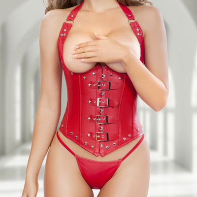 New arrive European style Imitation leather Corset Sexy Women Waist Cincher Slimming Shapewear Bodysuit Plus sizes