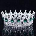 Невеста свадебные украшения Европейского Барокко корона сплава waterstone ювелирные украшения свадебное платье аксессуары Корона Тиара