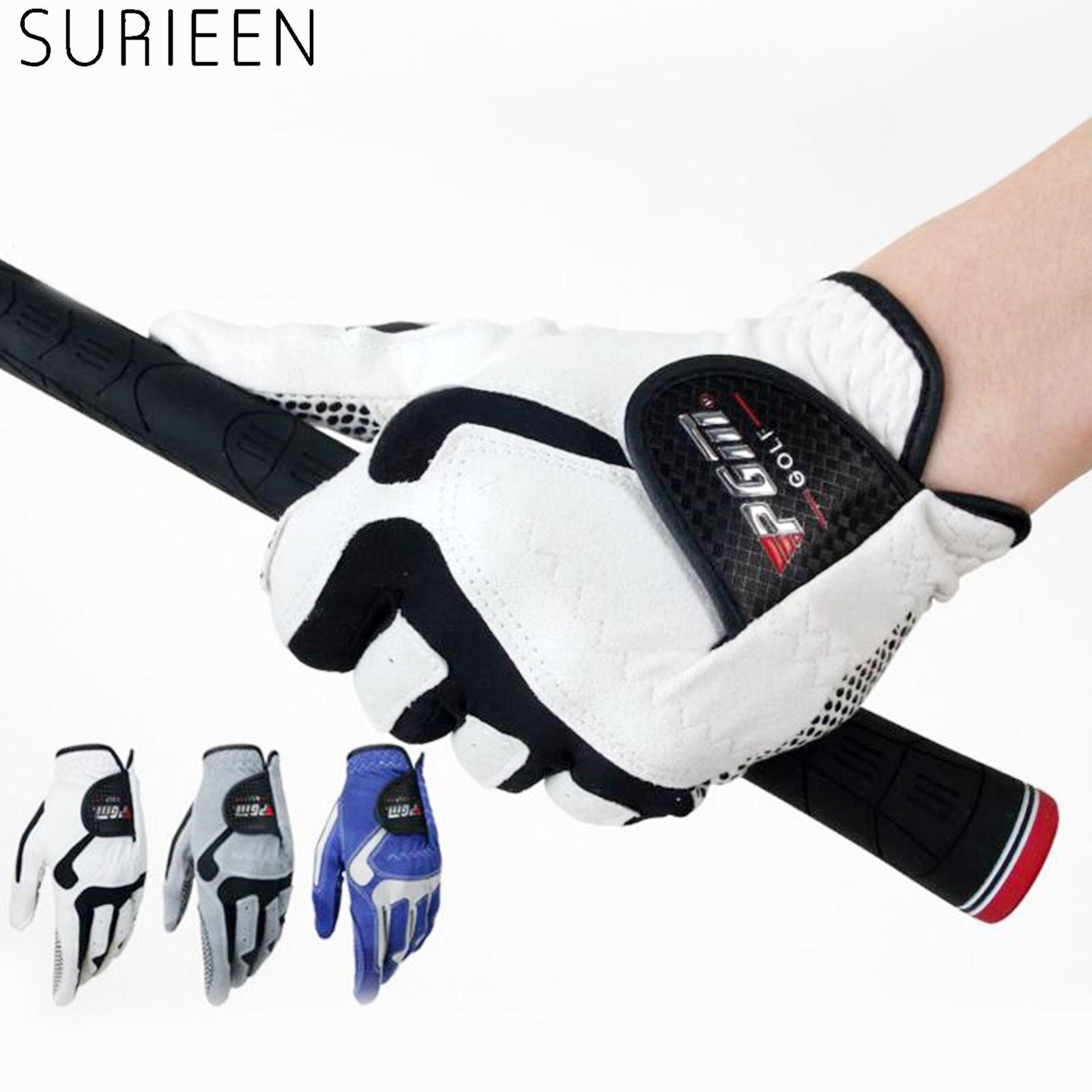 Luvas de Golfe de Microfibra Luvas de Golfe Esportes ao ar Surieen Novas Macio Esquerda Respirável Anti-derrapagem Masculino Não Resistente Livre Mão