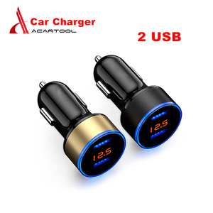 1PC!!!2 USB Car Charger Adapte
