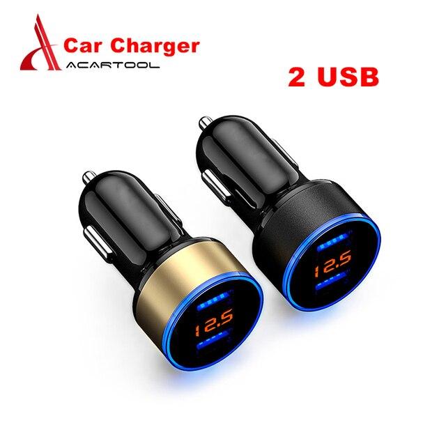 2 USB Автомобильное зарядное устройство адаптер 5 в 3.1A цифровой светодиодный напряжение/ток дисплей Авто Быстрая зарядка для телефона/PAD Бесплатная доставка