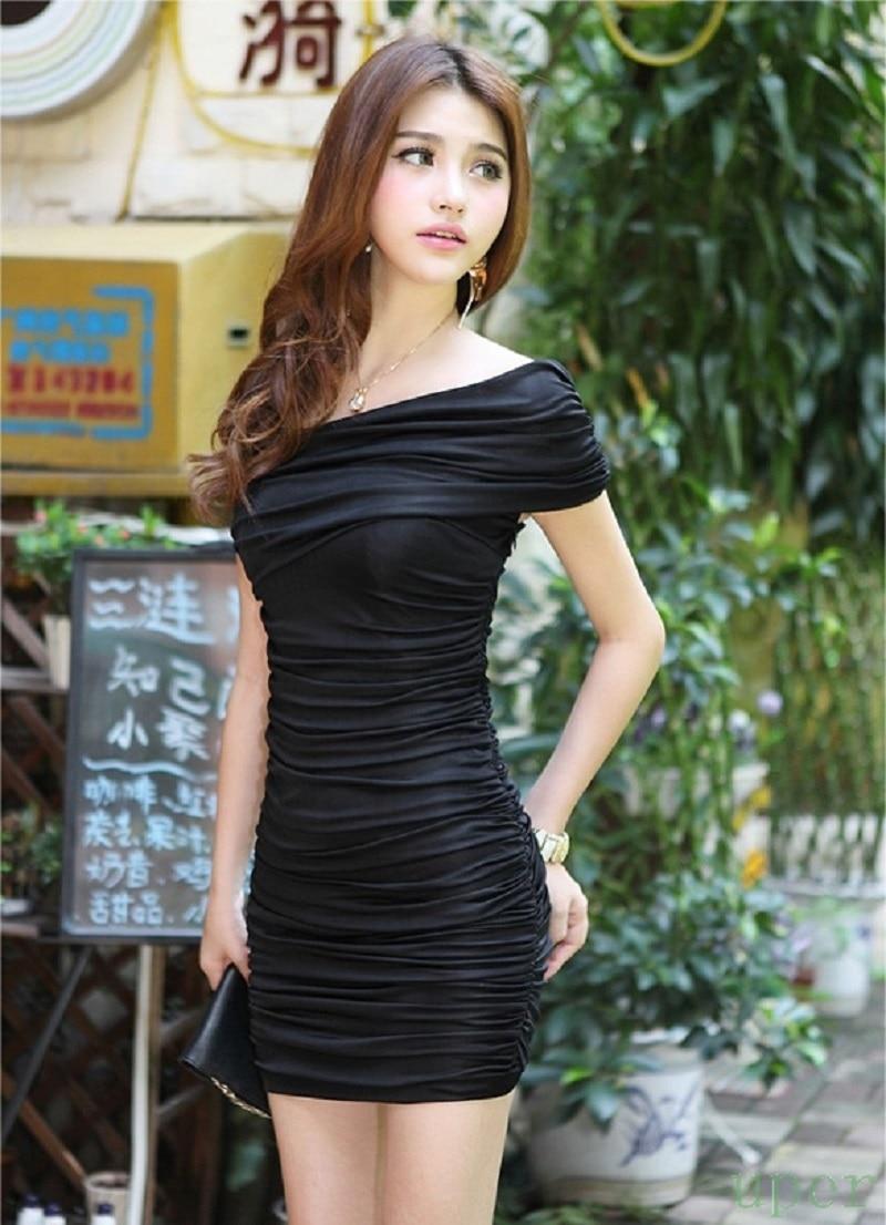 Black dress korean - Hot Sale Korean Women Ladies Sexy Casual High Waist Slim Hip Bodycon Mini Dress Summer Style In Dresses From Women S Clothing Accessories On