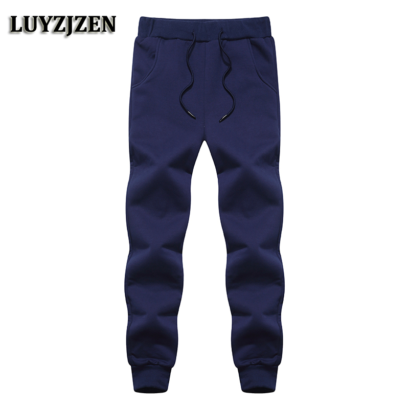 Winter Men's Fleece Pants 2017 New Arrival Casual Cotton Sweatpants Men Fashion Solid High Quality Cashmere Trousers Warm 6B2