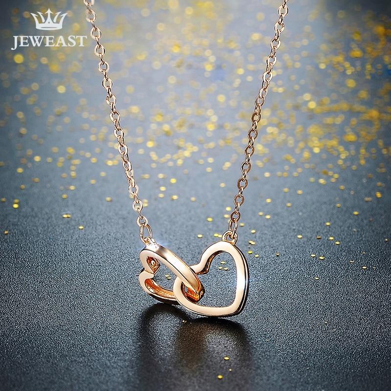 XXX puro collar de oro de 18 k colgante para mujer cadena de encanto - Joyas - foto 2
