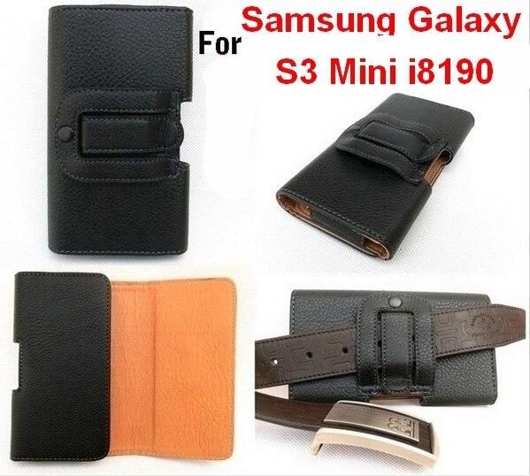 Чехол для Samsung Galaxy S3 Mini i8190, черный роскошь кожа чехол ремень клип горизонтальный сумка
