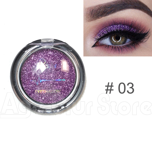 Pudaier Glitter Eyeshadow Smokey Eye Shadow 20 Colors Shimmer Sparkle Eyeshadow Palette of Shadows Makeup Palettes Cosmetics 5