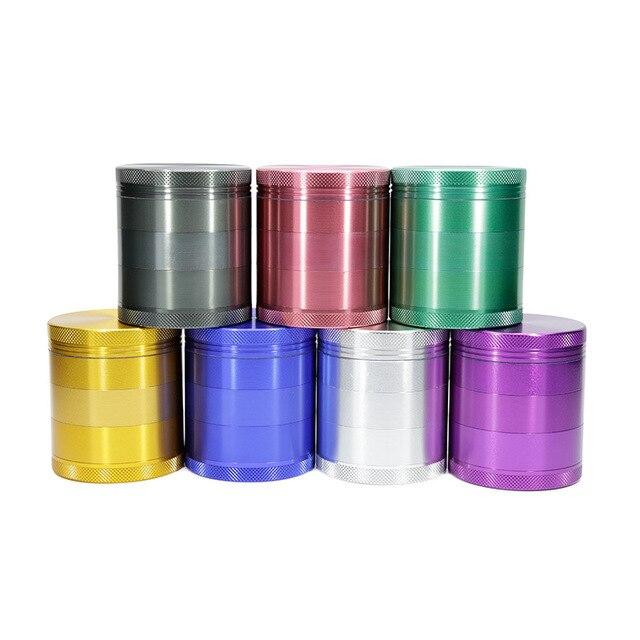 10pcs New wholesale Diameter 63mm 5 layer tobacco grinder