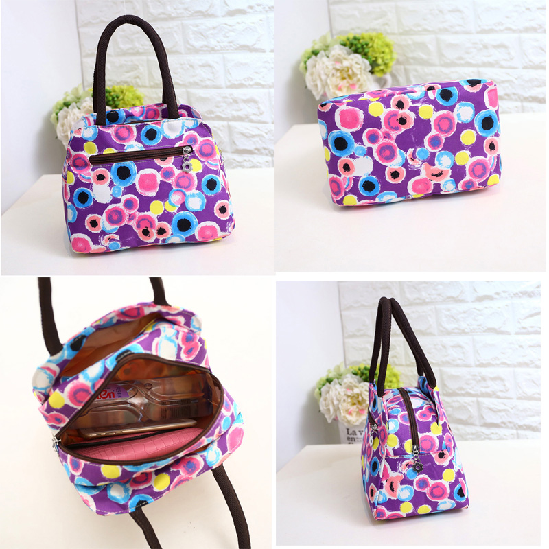 Fashion Canvas lunch Bag Portable Insulated Thermal Food Picnic Lunch Bags for Women kids Men Cooler Lunch Box Bag Tote 2018 New