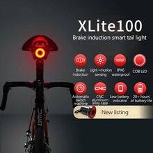 XLITE100 велосипеда вспышка светильник велосипед задний светильник Авто старт/стоп-сигнал зондирования IPx6 Водонепроницаемый светодиодный зарядки Велоспорт Хвост светильник