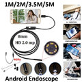 3.5m 8mm Android OTG Phone 2MP Endoscope Waterproof LED Inspection Snake Camera