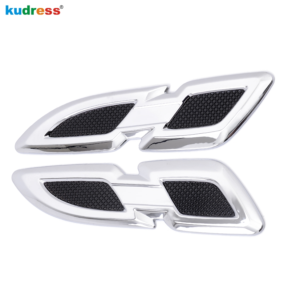 For Toyota New RAV4 <font><b>RAV</b></font> <font><b>4</b></font> 2016 2017 <font><b>2018</b></font> ABS chrome Front Side Fender Vents Air Outlet lamp trim Side AC Cover Auto Accessories image