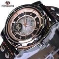 Classic Luxury Forsining Royal Gold Big Case Black Automatic Mechanical Skeleton Relogio Self Wind Men Mechanical Watch