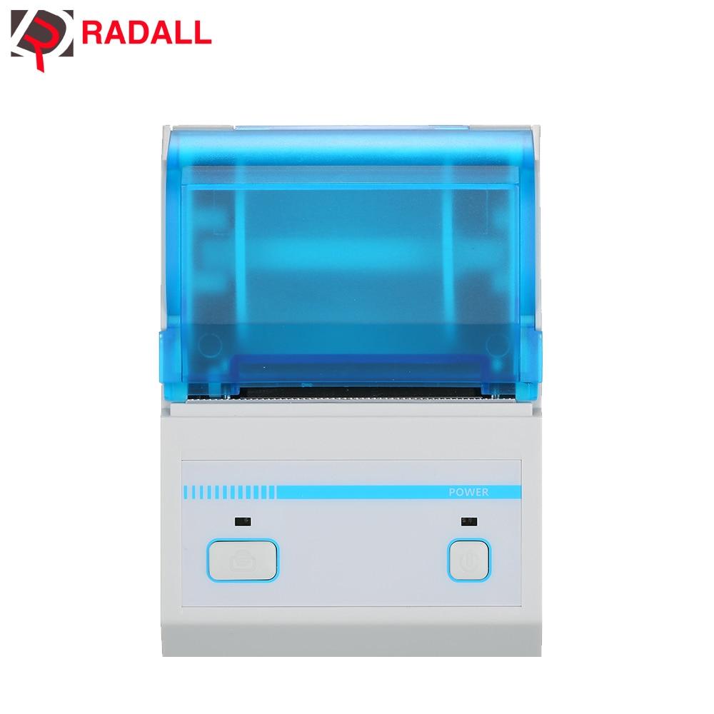 Imprimante thermique de Code barres d'imprimante portative d'étiquette de RADALL RD-C58S avec l'application Android IOS Mini fabricant sans fil d'étiquette de Code barres de Bluetooth