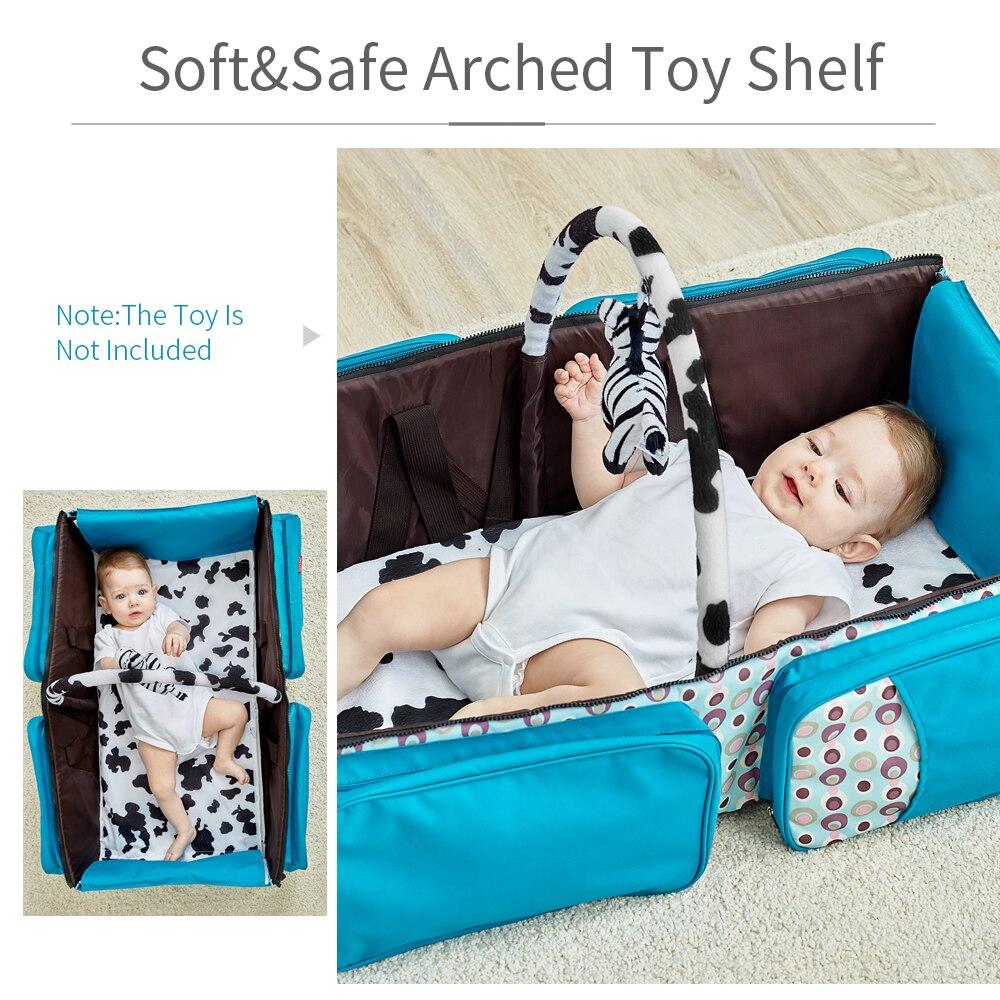 Bolsa de pañales de bebé bolsa de pañales de moda bolsa de papá mochila de cuidado de bebé mamá mochila de viaje bolso de hombro para cochecito de bebé - 6