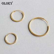 OLOEY 100% Real 925 Sterling Silver Hoop Earring for Women G