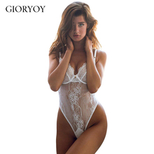 GIORYOY Valentine's Day straps transparent printing doll sexy sexy transparent pajamas black yummy scalloped lace teddy lingerie(China)