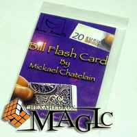Carte Flash Bill de Mickael châtelain/gros plan facture et carte tour de magie/vente en gros