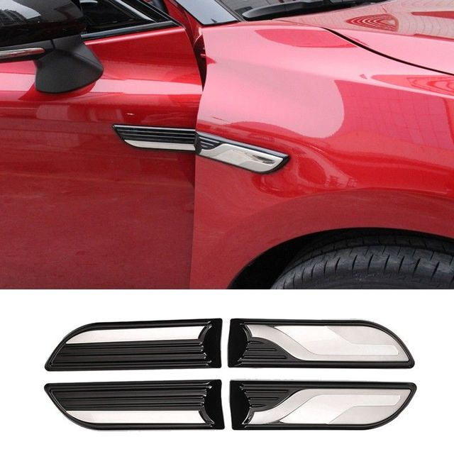 pcmos 4Pcs Body Side Fender Decorative Appearance For 2018 Toyota Camry Car Stickers