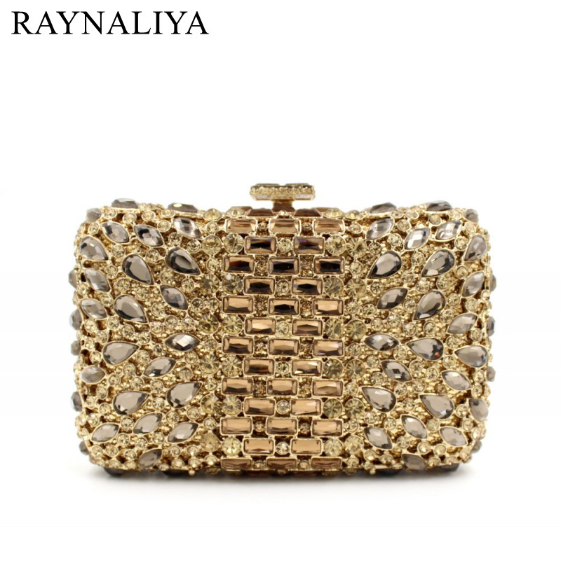 Luxury Crystal Box Bags Lady Evening Bags Women Crystal Bags Clutches Chain Shoulder Bag Purse Mini Small Handbag SMYZH-F0096 2015 women s handbag mini jelly bag crystal bag one shoulder bag picture small handbag