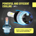 2Pcs H7 COB 200W LED Headlight Kit High Low Beam Fog Light Bulbs 6500K